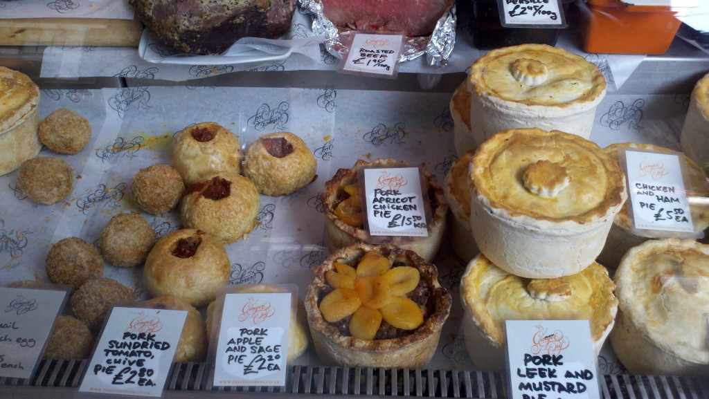 Meat Pies at Borough Market in London