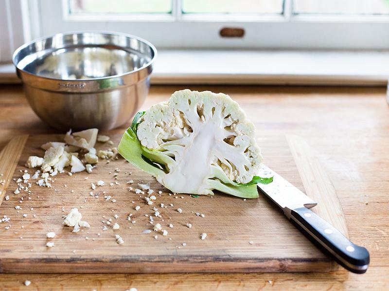 cauliflower cut in half
