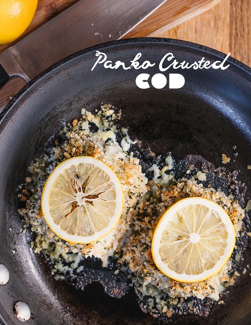 panko crusted cod