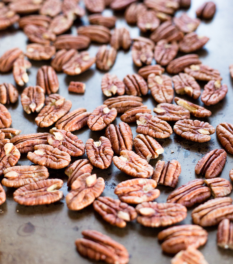 pecans on a cookie sheet
