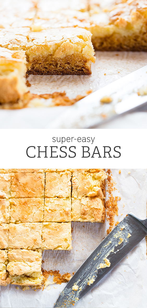 Gooey, delicious Chess Bars. Super-easy to make, and always a favorite!