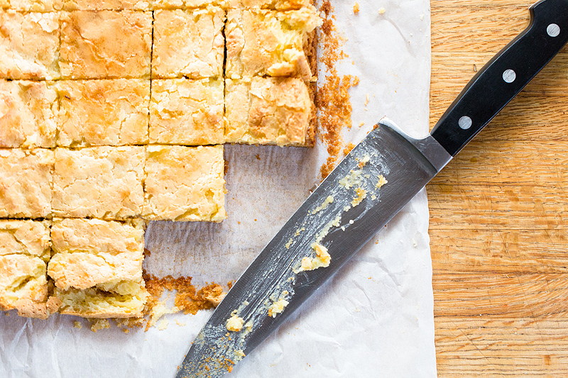 cutting chess squares with a knife