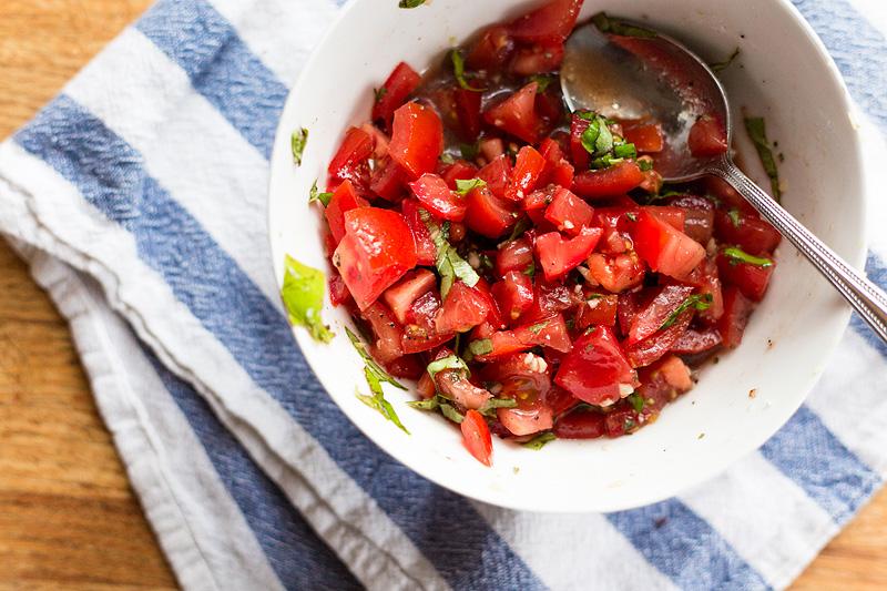 tomatoes for bruschetta