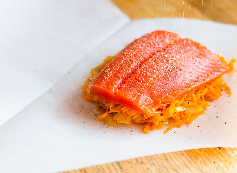 salmon in paper