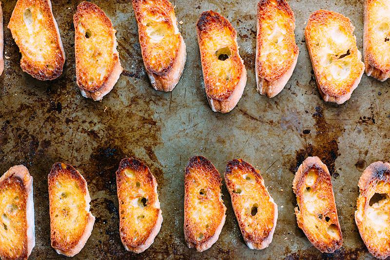 cooked crostini