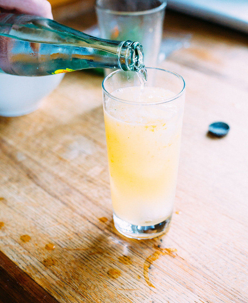 georgian holiday - a peach cocktail punch with rum