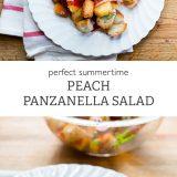 Summertime Peach Panzanella Salad