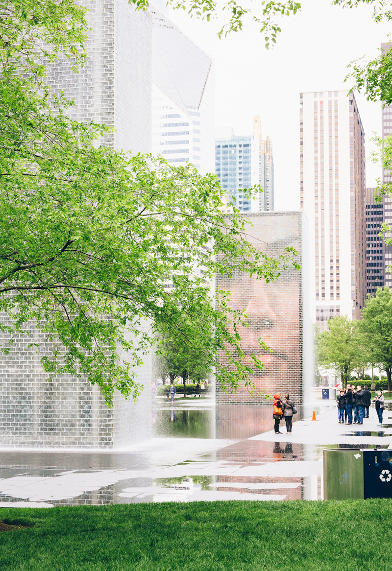 millennium park fountain