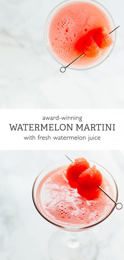 Award-winning watermelon martini from Food Banjo.