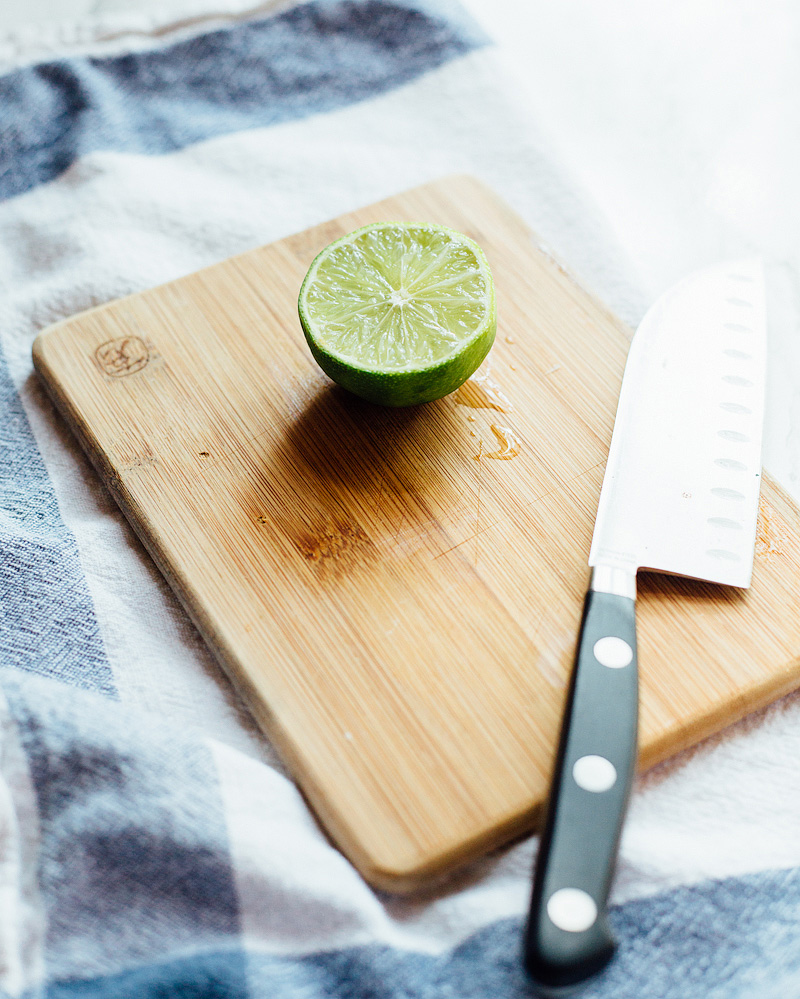 lime on a cutting board