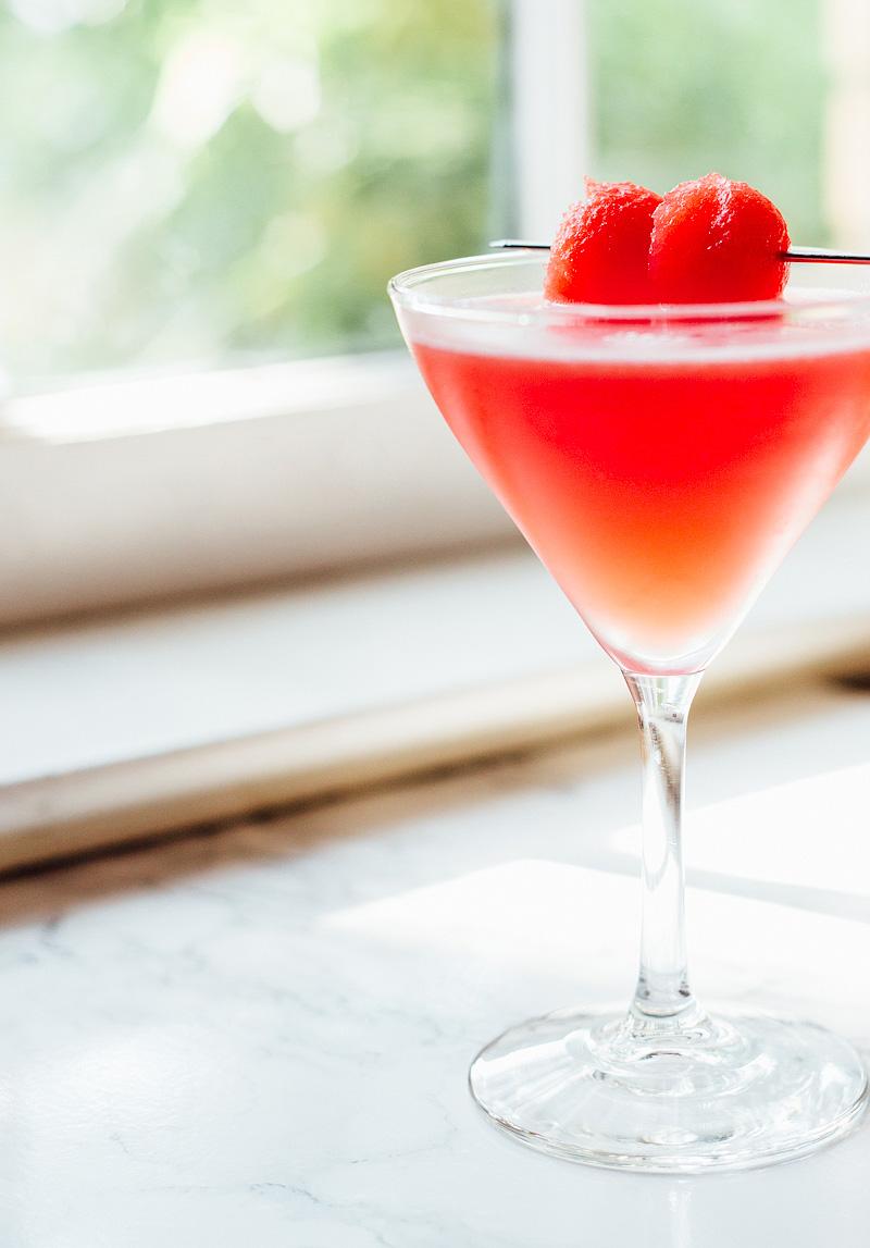 watermelon martini up close