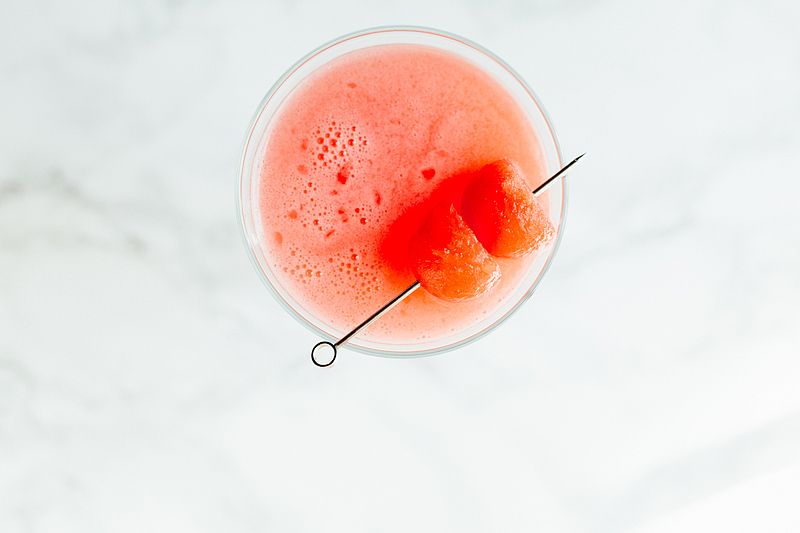 watermelon martini from above