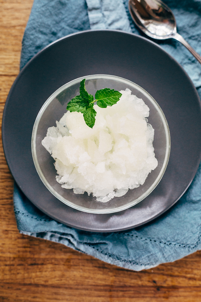easy lemon granita