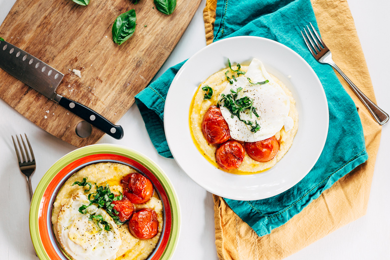 cheesy polenta with tomatoes