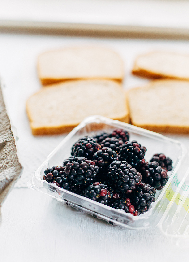 blackberries and bread