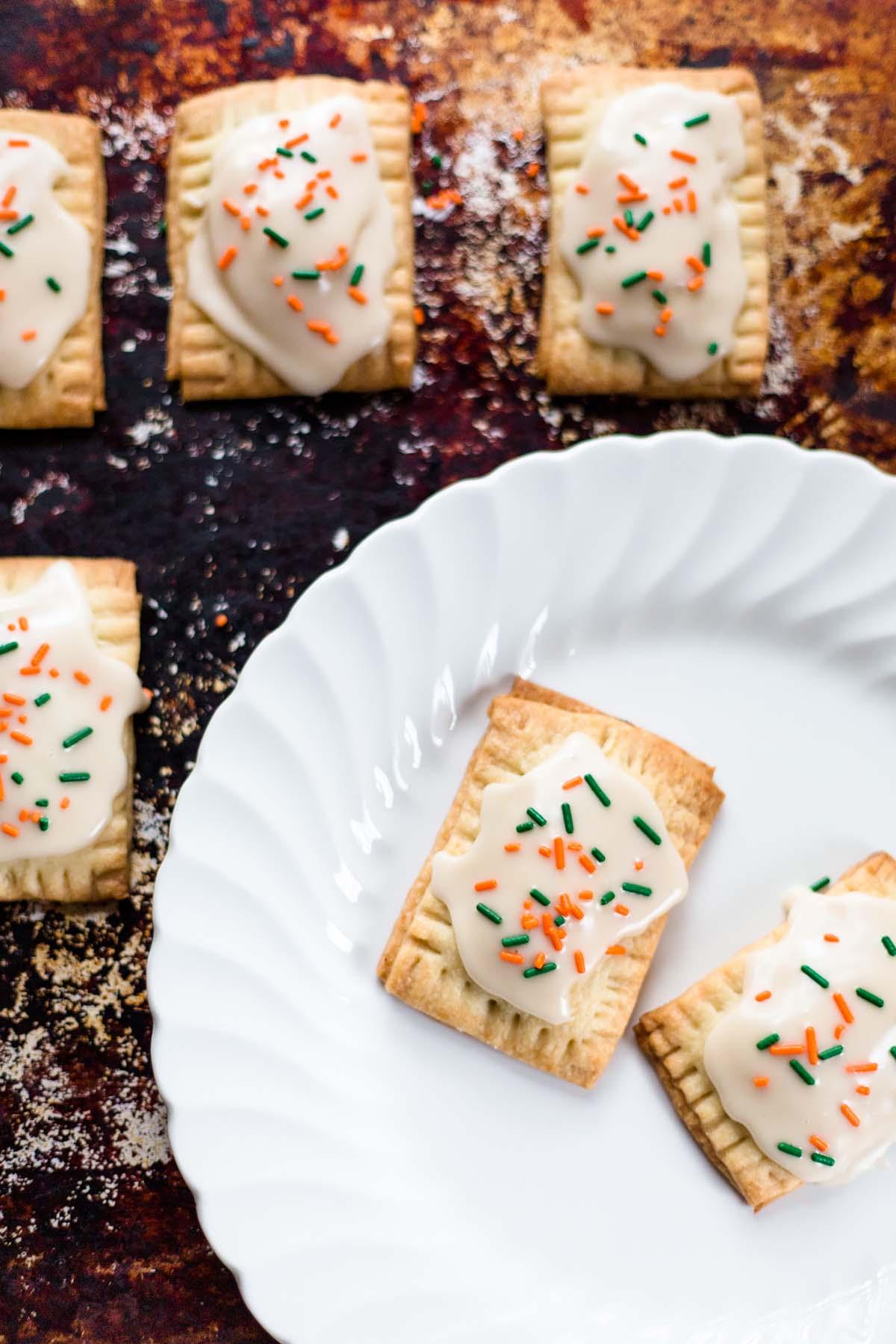 mini pumpkin pie pop tarts up close