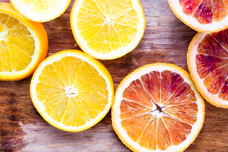 sliced winter citrus