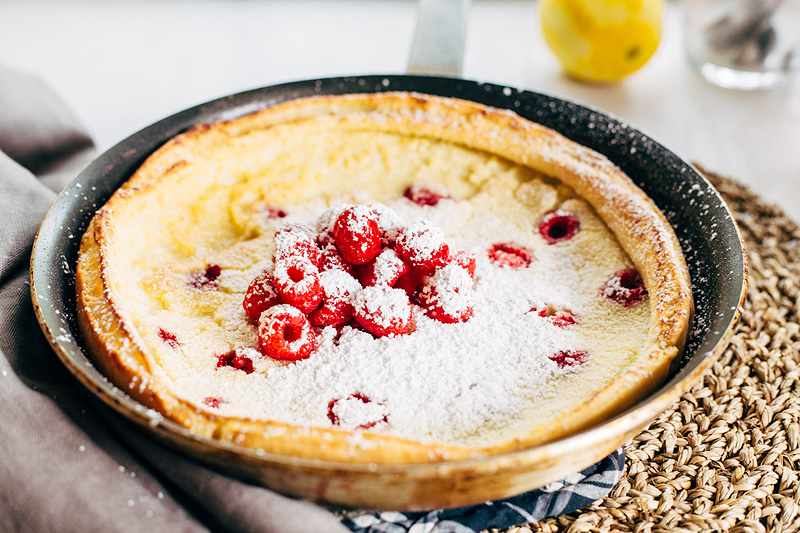 Raspberry Dutch Baby Pancake