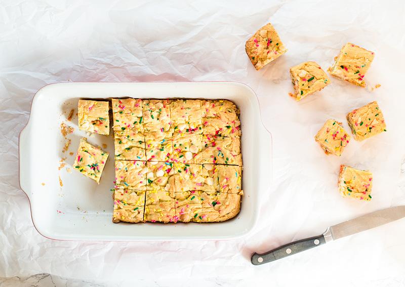 Gooey Confetti Cake Bars