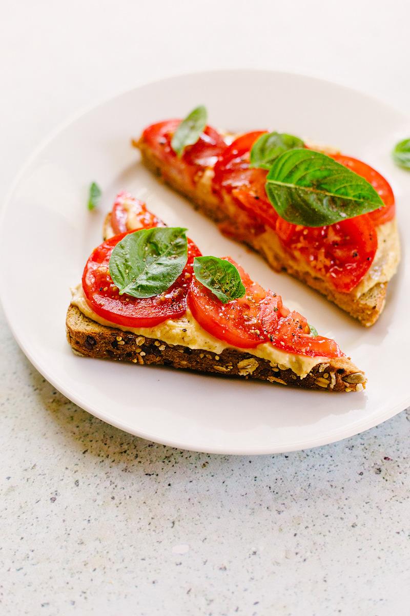 Tomato Hummus Toast