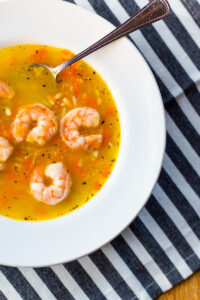 lemon orzo soup with shrimp