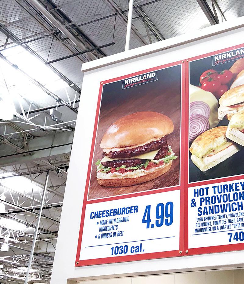 costco food court cheeseburger