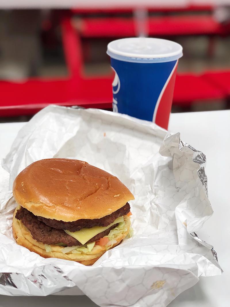 costco cheeseburger food court