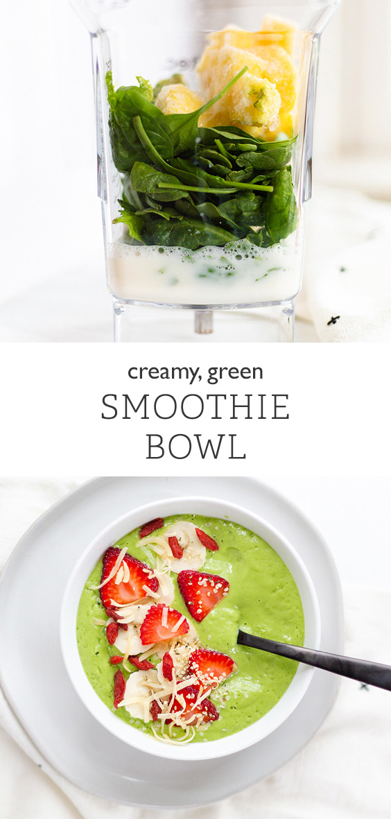 Creamy green smoothie bowl from Food Banjo