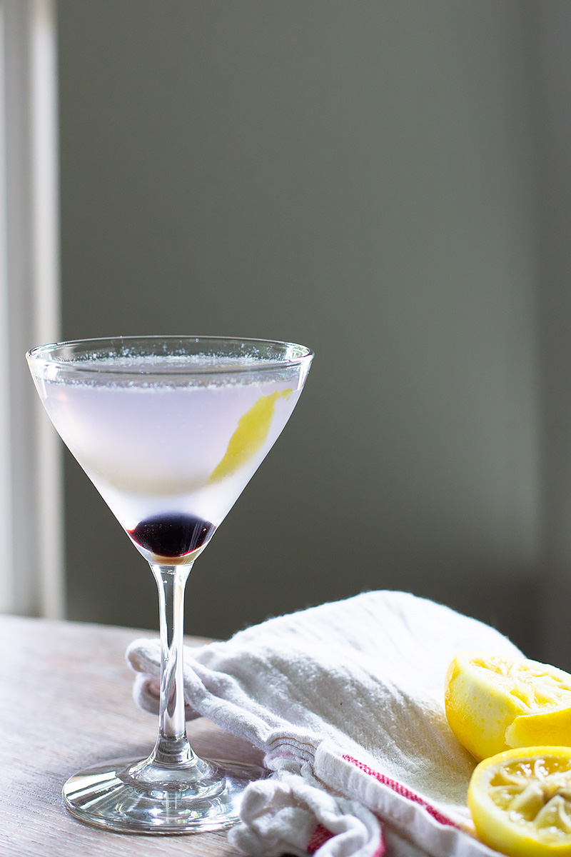 Aviation Cocktail on a table