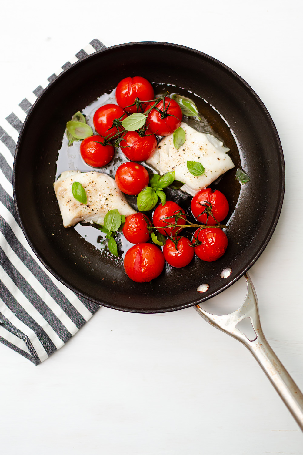Cod with Tomatoes and Basil