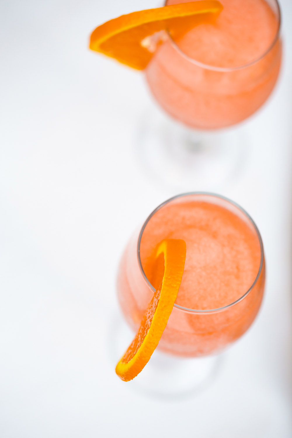 aperol spritz from above