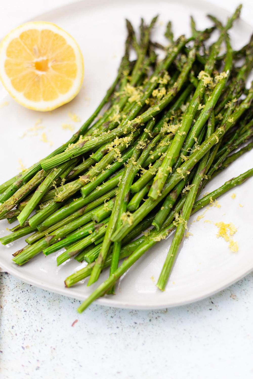Roasted Asparagus up close