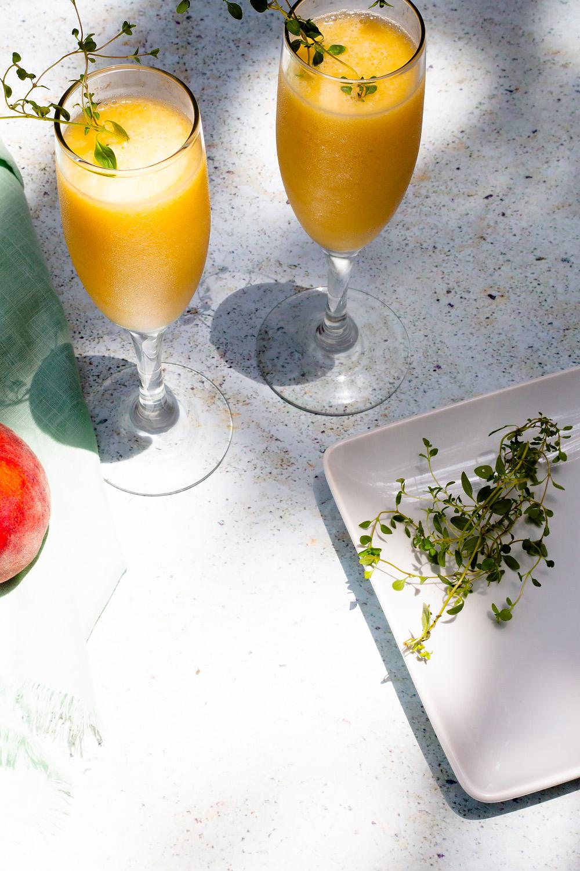 Peach Bellini Mocktail