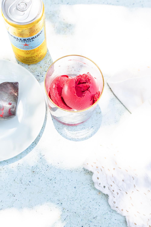 Raspberry Sorbet Mocktail