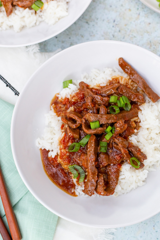 instant pot mongolian beef recipe up close
