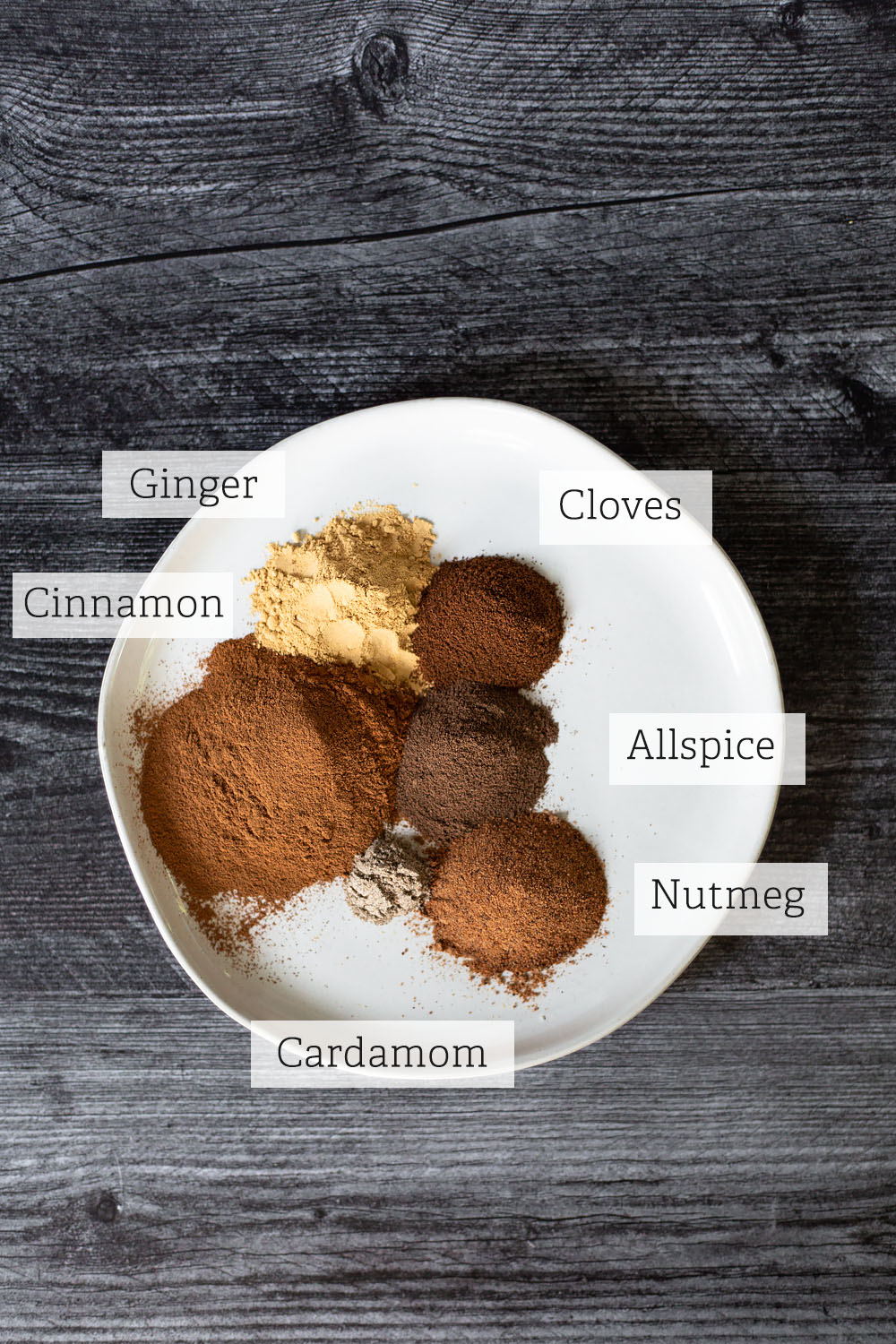 labeled ingredients for pumpkin pie spice
