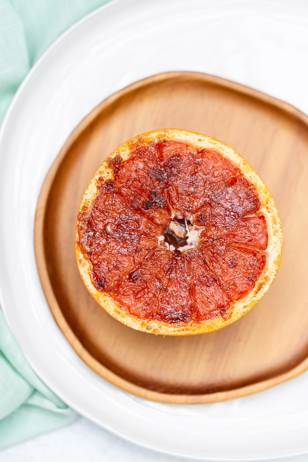 broiled grapefruit with brown sugar and vanilla
