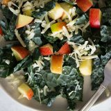 tuscan kale salad with apples and cheese