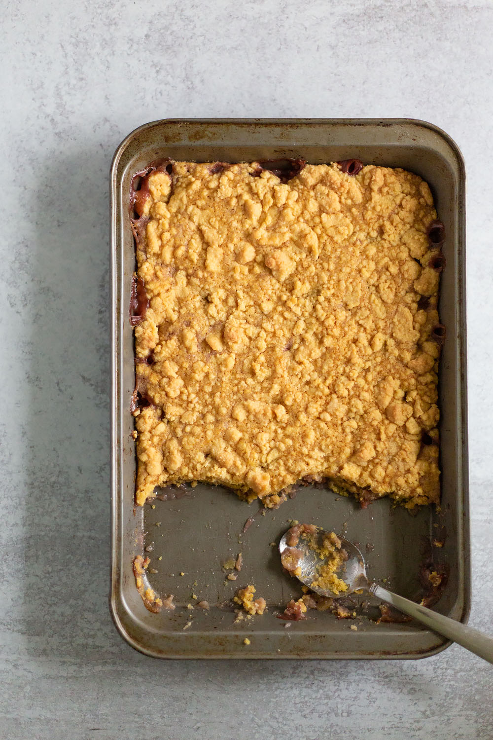 dump cake after oven