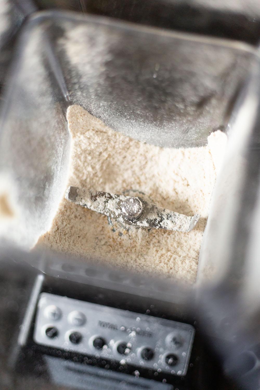 oatmeal in a blender
