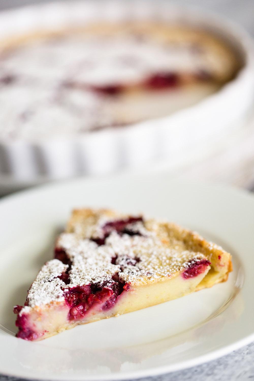 Slice of Raspberry Clafoutis