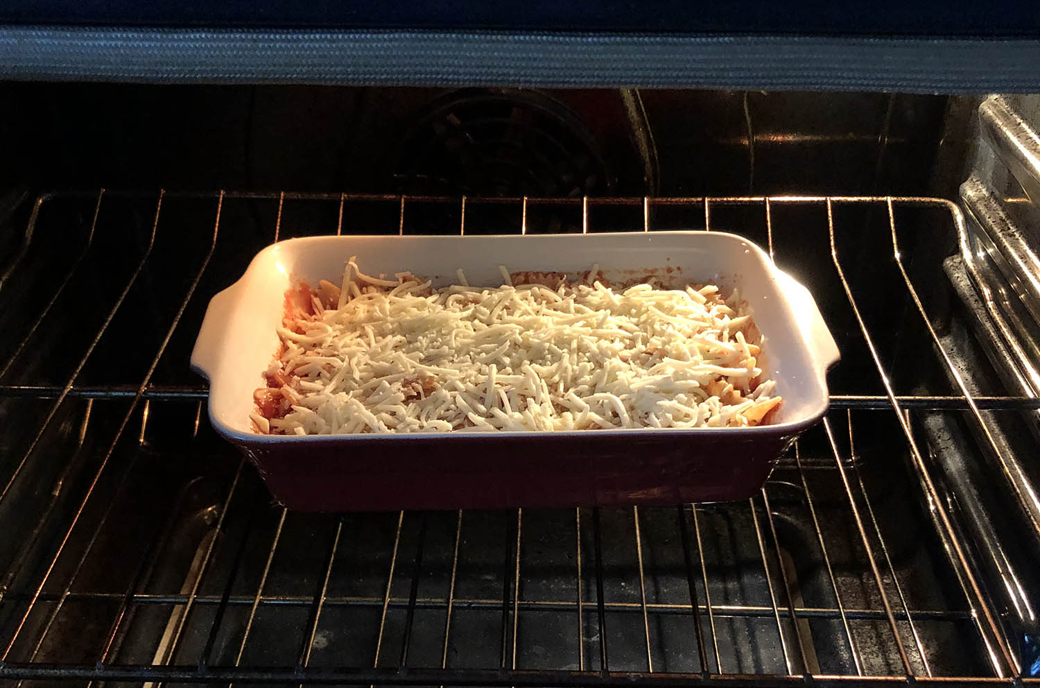 pasta bake in the oven