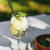 hugo austrian cocktail on table
