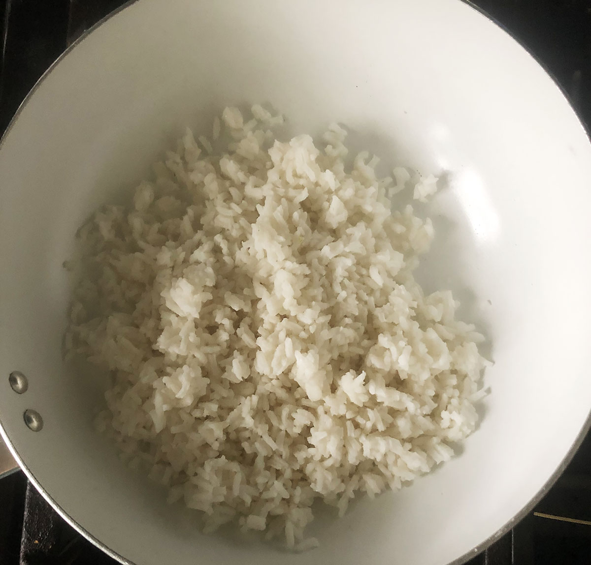 rice in a skillet
