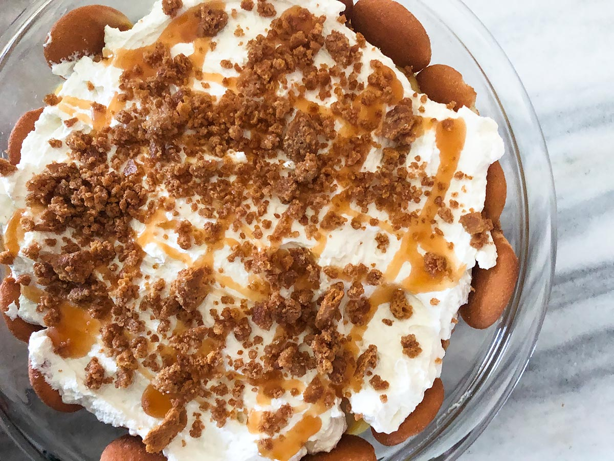 banana pudding from above