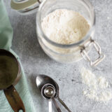 self rising flour in a container
