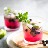 nonalcoholic blueberry mojito