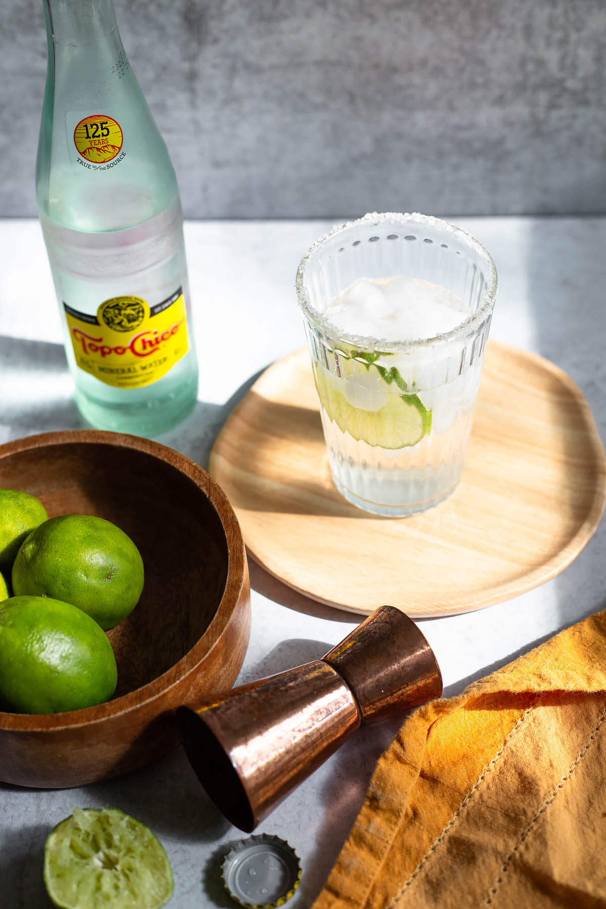 ranch water cocktail with lime