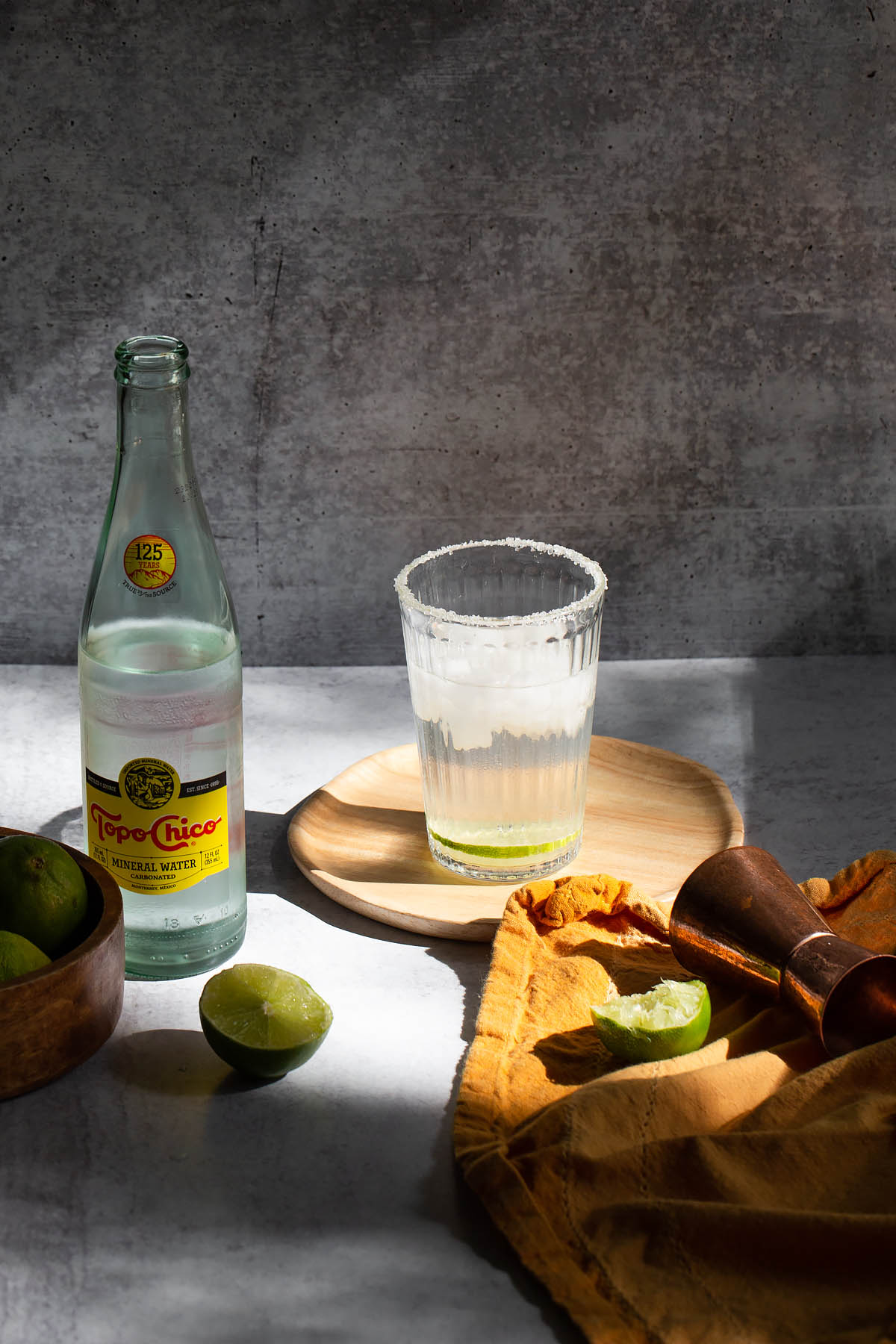 ranch water cocktail with topo chico