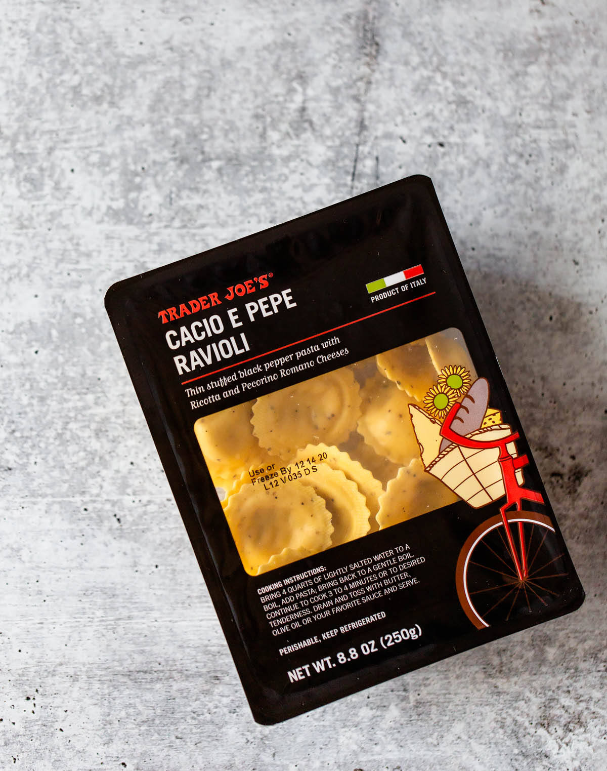 trader joes cacio e pepe in the package